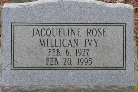MILLICAN IVY, JACQUELINE ROSE - La Salle County, Louisiana | JACQUELINE ROSE MILLICAN IVY - Louisiana Gravestone Photos