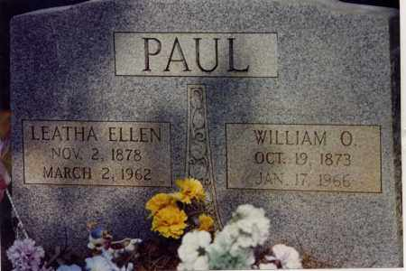 PAUL, WILLIAM OTIS - La Salle County, Louisiana   WILLIAM OTIS PAUL - Louisiana Gravestone Photos