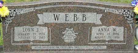 WEBB, ANNA W - La Salle County, Louisiana | ANNA W WEBB - Louisiana Gravestone Photos