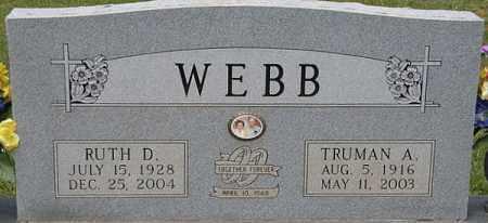 WEBB, TRUMAN A - La Salle County, Louisiana | TRUMAN A WEBB - Louisiana Gravestone Photos