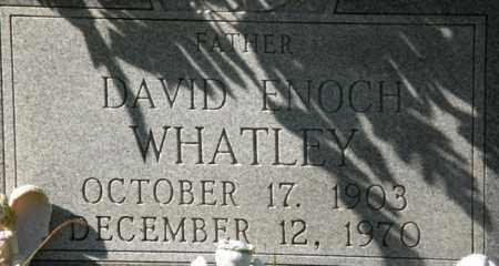 WHATLEY, DAVID ENOCH - La Salle County, Louisiana | DAVID ENOCH WHATLEY - Louisiana Gravestone Photos