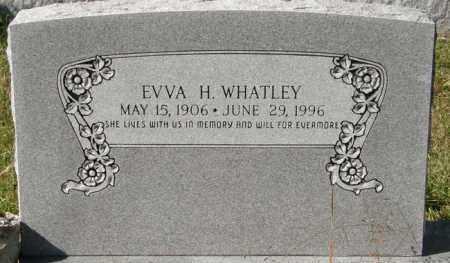WHATLEY, E V V A H - La Salle County, Louisiana | E V V A H WHATLEY - Louisiana Gravestone Photos