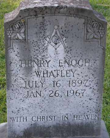 WHATLEY, HENRY ENOCH - La Salle County, Louisiana   HENRY ENOCH WHATLEY - Louisiana Gravestone Photos