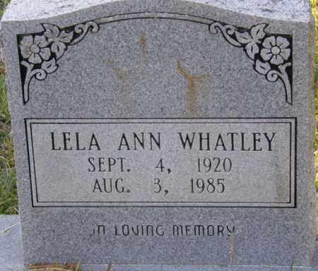 WHATLEY, LELA ANN - La Salle County, Louisiana   LELA ANN WHATLEY - Louisiana Gravestone Photos