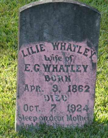 WHATLEY, LILIE - La Salle County, Louisiana | LILIE WHATLEY - Louisiana Gravestone Photos