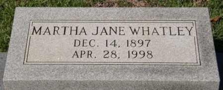 WHATLEY, MARTHA JANE - La Salle County, Louisiana   MARTHA JANE WHATLEY - Louisiana Gravestone Photos