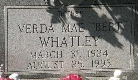 "WHATLEY, VERDA MAE ""BERT"" - La Salle County, Louisiana   VERDA MAE ""BERT"" WHATLEY - Louisiana Gravestone Photos"