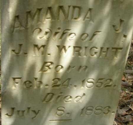 WRIGHT, AMANDA J - La Salle County, Louisiana   AMANDA J WRIGHT - Louisiana Gravestone Photos