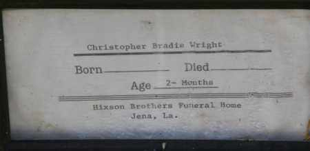 WRIGHT, CHRISTOPHER BRADIE - La Salle County, Louisiana | CHRISTOPHER BRADIE WRIGHT - Louisiana Gravestone Photos