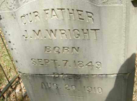 WRIGHT, J M - La Salle County, Louisiana | J M WRIGHT - Louisiana Gravestone Photos