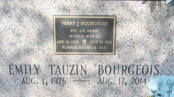 BOURGEOIS, PERRY J  (VETERAN WWII) - Lafourche County, Louisiana | PERRY J  (VETERAN WWII) BOURGEOIS - Louisiana Gravestone Photos