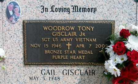 GISCLAIR, WOODROW TONY, JR  (VETERAN VIET) - Lafourche County, Louisiana   WOODROW TONY, JR  (VETERAN VIET) GISCLAIR - Louisiana Gravestone Photos
