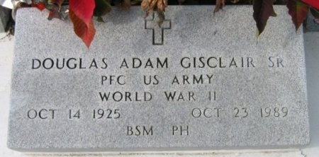 GISCLAIR, DOUGLAS ADAM, JR  (VETERAN WWII) - Lafourche County, Louisiana | DOUGLAS ADAM, JR  (VETERAN WWII) GISCLAIR - Louisiana Gravestone Photos