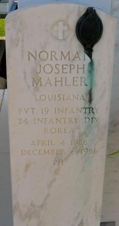 MAHLER, NORMAN JOSEPH  (VETERAN KOR, KIA) - Lafourche County, Louisiana   NORMAN JOSEPH  (VETERAN KOR, KIA) MAHLER - Louisiana Gravestone Photos
