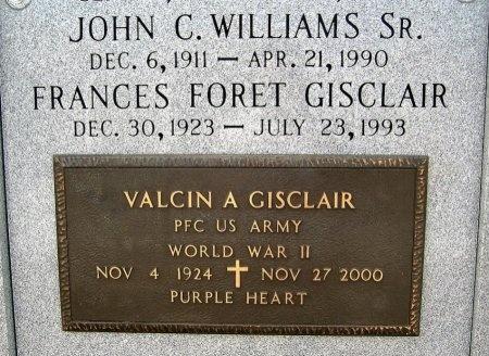 GISCLAIR, VALCIN A  (VETERAN WWII) - Lafourche County, Louisiana | VALCIN A  (VETERAN WWII) GISCLAIR - Louisiana Gravestone Photos
