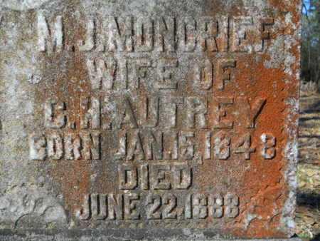 AUTREY, M J (CLOSE UP) - Lincoln County, Louisiana   M J (CLOSE UP) AUTREY - Louisiana Gravestone Photos