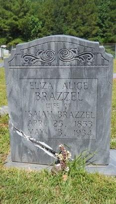 BRAZZEL, ELIZA ALICE - Lincoln County, Louisiana   ELIZA ALICE BRAZZEL - Louisiana Gravestone Photos