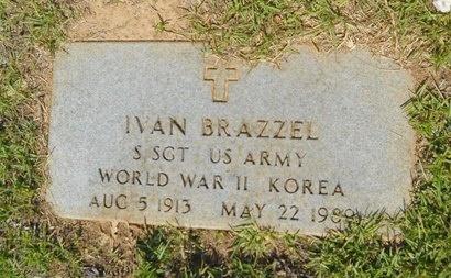BRAZZEL, IVAN (VETERAN 2 WARS) - Lincoln County, Louisiana | IVAN (VETERAN 2 WARS) BRAZZEL - Louisiana Gravestone Photos