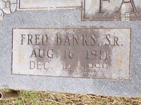 FARMER, FRED BANKS, SR (CLOSE UP) - Lincoln County, Louisiana | FRED BANKS, SR (CLOSE UP) FARMER - Louisiana Gravestone Photos