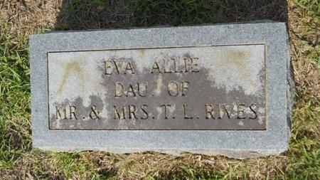 RIVES, EVA ALLIE - Lincoln County, Louisiana | EVA ALLIE RIVES - Louisiana Gravestone Photos
