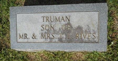 RIVES, TRUMAN - Lincoln County, Louisiana   TRUMAN RIVES - Louisiana Gravestone Photos
