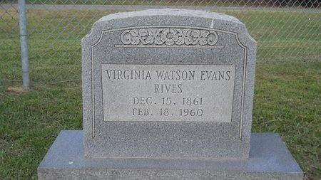 RIVES, VIRGINIA - Lincoln County, Louisiana   VIRGINIA RIVES - Louisiana Gravestone Photos