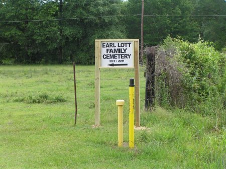 CEMETERY SIGN, EARL LOTT FAMILY CEMETERY - Livingston County, Louisiana | EARL LOTT FAMILY CEMETERY CEMETERY SIGN - Louisiana Gravestone Photos