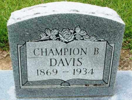 DAVIS, CHAMPION B - Livingston County, Louisiana | CHAMPION B DAVIS - Louisiana Gravestone Photos