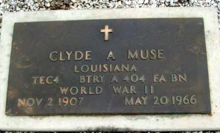 MUSE, CLYDE A (VETERAN WWII) - Livingston County, Louisiana | CLYDE A (VETERAN WWII) MUSE - Louisiana Gravestone Photos
