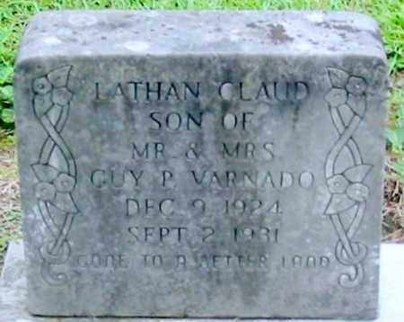 VARNADO, LATHAN CLAUD - Livingston County, Louisiana | LATHAN CLAUD VARNADO - Louisiana Gravestone Photos