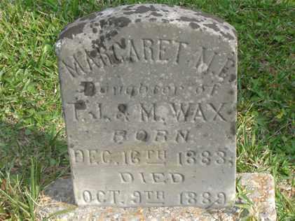 WAX, MARGARET M E - Livingston County, Louisiana | MARGARET M E WAX - Louisiana Gravestone Photos