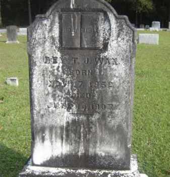 WAX, THOMAS JEFFERSON, REV - Livingston County, Louisiana   THOMAS JEFFERSON, REV WAX - Louisiana Gravestone Photos