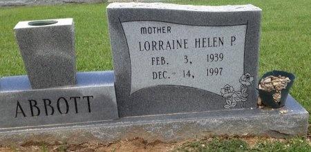 ABBOTT, LORRAINE HELEN - Livingston County, Louisiana | LORRAINE HELEN ABBOTT - Louisiana Gravestone Photos