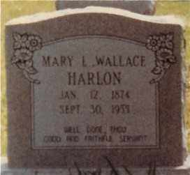 WALLACE  HARLON, MARY - Morehouse County, Louisiana | MARY WALLACE  HARLON - Louisiana Gravestone Photos