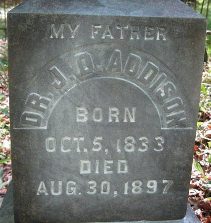 ADDISON, J D, DR (CLOSE UP) - Natchitoches County, Louisiana | J D, DR (CLOSE UP) ADDISON - Louisiana Gravestone Photos