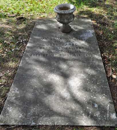 WILSIE BARBO, VIRGINIA - Natchitoches County, Louisiana   VIRGINIA WILSIE BARBO - Louisiana Gravestone Photos
