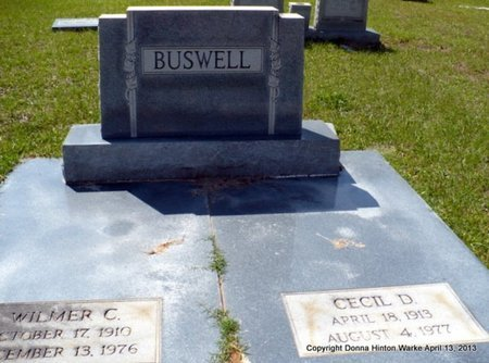 BUSWELL, WILMER C - Natchitoches County, Louisiana | WILMER C BUSWELL - Louisiana Gravestone Photos