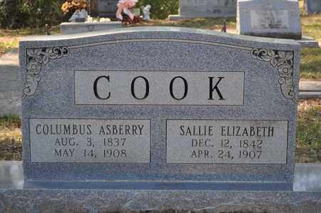 COOK, SALLIE ELIZABETH - Natchitoches County, Louisiana   SALLIE ELIZABETH COOK - Louisiana Gravestone Photos