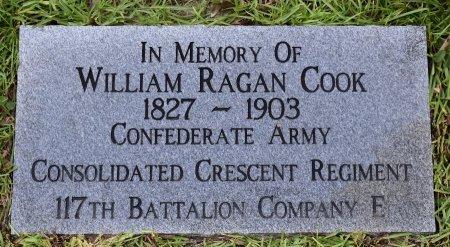 COOK , WILLIAM RAGAN (VETERAN CSA) - Natchitoches County, Louisiana | WILLIAM RAGAN (VETERAN CSA) COOK  - Louisiana Gravestone Photos