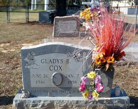 COX, GLADYS B - Natchitoches County, Louisiana | GLADYS B COX - Louisiana Gravestone Photos