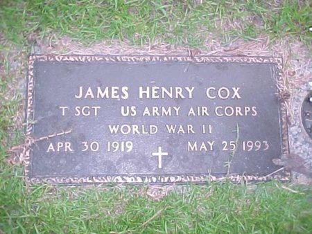COX, JAMES HENRY (VETERAN WWII) - Natchitoches County, Louisiana   JAMES HENRY (VETERAN WWII) COX - Louisiana Gravestone Photos