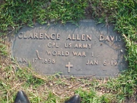 DAVIS, CLARENCE ALLEN (VETERAN WWI) - Natchitoches County, Louisiana | CLARENCE ALLEN (VETERAN WWI) DAVIS - Louisiana Gravestone Photos