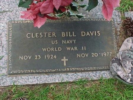DAVIS, CLESTER BILL (VETERAN WWII) - Natchitoches County, Louisiana | CLESTER BILL (VETERAN WWII) DAVIS - Louisiana Gravestone Photos