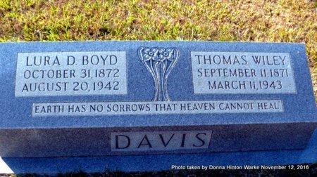 BOYD DAVIS, LURA D - Natchitoches County, Louisiana | LURA D BOYD DAVIS - Louisiana Gravestone Photos
