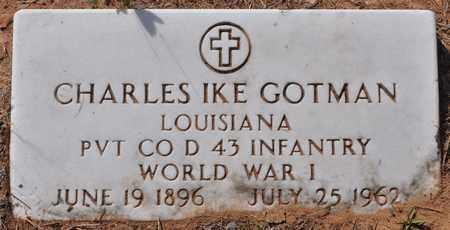 GOTMAN, CHARLES IKE (VETERAN WWI) - Natchitoches County, Louisiana   CHARLES IKE (VETERAN WWI) GOTMAN - Louisiana Gravestone Photos