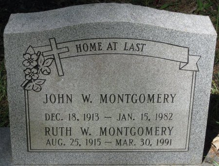 MONTGOMERY, RUTH W - Natchitoches County, Louisiana | RUTH W MONTGOMERY - Louisiana Gravestone Photos