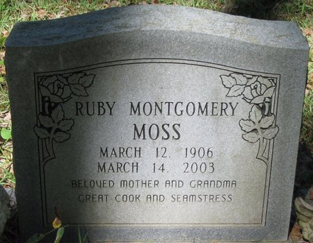 MONTGOMERY MOSS, RUBY - Natchitoches County, Louisiana | RUBY MONTGOMERY MOSS - Louisiana Gravestone Photos