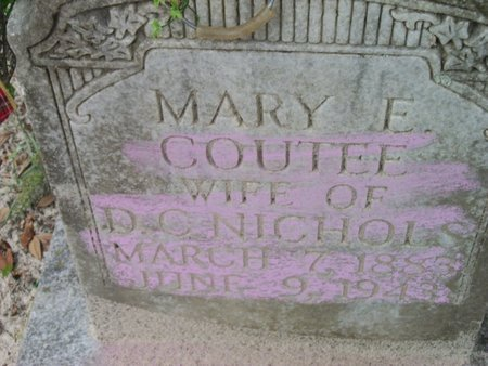 COUTEE NICHOLS, MARY ELIZABETH - Natchitoches County, Louisiana | MARY ELIZABETH COUTEE NICHOLS - Louisiana Gravestone Photos