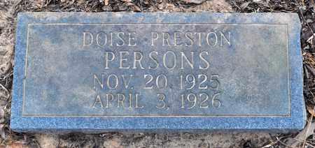 PERSONS, DOISE PRESTON - Natchitoches County, Louisiana   DOISE PRESTON PERSONS - Louisiana Gravestone Photos