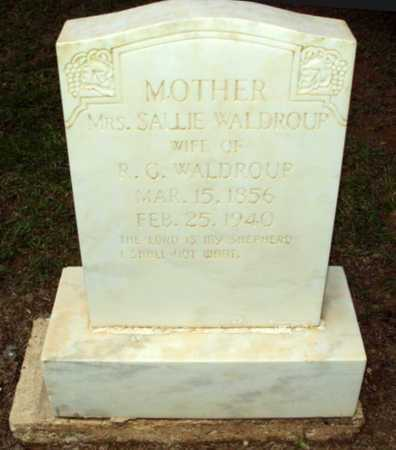 WALDROUP, SALLIE, MRS - Natchitoches County, Louisiana   SALLIE, MRS WALDROUP - Louisiana Gravestone Photos